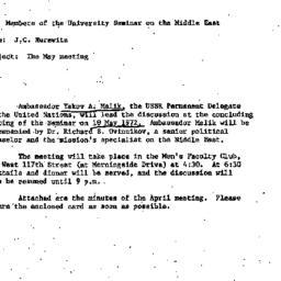 Announcements, 1972-04-20. ...