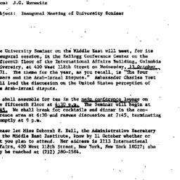 Announcements, 1971-10-04. ...