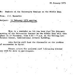 Announcements, 1973-01-25. ...