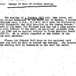 Announcements, 1973-10-01. ...