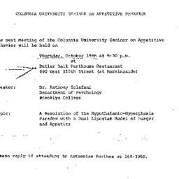 Announcements, 1972-10-19. ...