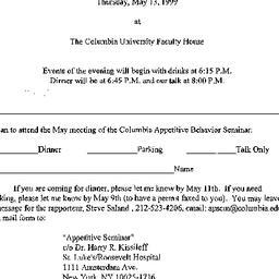 Announcements, 1999-05-13. ...