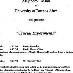 Announcements, 2001-05-02. ...