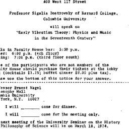 Announcements, 1974-03-04. ...