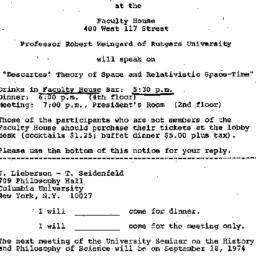 Announcements, 1975-08-21. ...