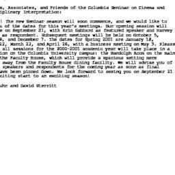 Announcements, 2000-09-03. ...