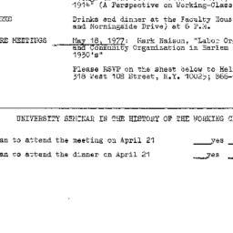 Announcements, 1977-04-21. ...