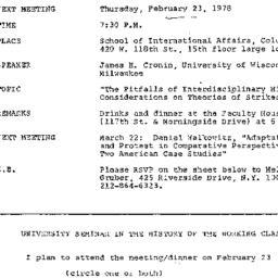 Announcements, 1978-02-23. ...