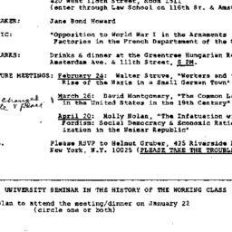 Announcements, 1981-01-22. ...