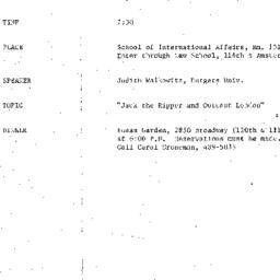 Announcements, 1982-09-20. ...