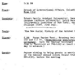 Announcements, 1984-02-23. ...