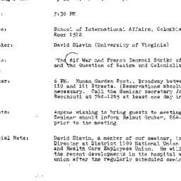 Announcements, 1984-04-10. ...