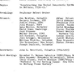 Minutes, 1983-10-17. Twenti...