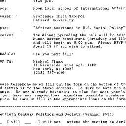 Announcements, 1993-04-02. ...
