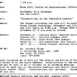 Announcements, 1992-11-04. ...
