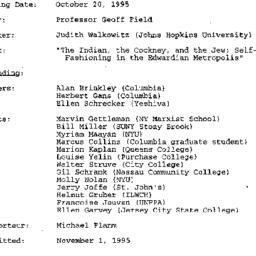 Minutes, 1995-10-20. Twenti...