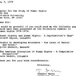 Correspondence, 1978-05-03....