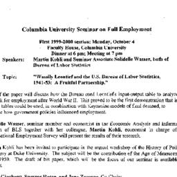 Announcements, 1999-10-04. ...