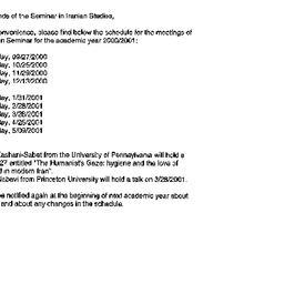 Announcements, 2001-06-21. ...