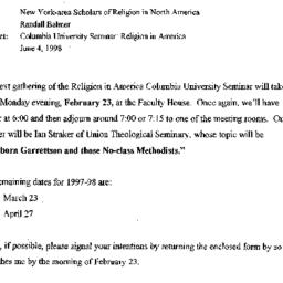 Announcements, 1998-02-23. ...