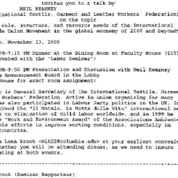 Announcements, 2000-11-02. ...