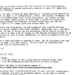 Announcements, 2002-04-19. ...
