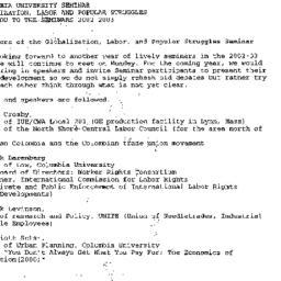 Announcements, 2002-09-05. ...