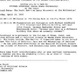 Announcements, 2000-03-29. ...