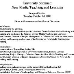 Announcements, 2000-10-24. ...