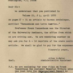 Correspondence, 1970-05-05....