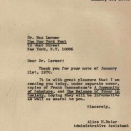 Correspondence, 1970-01-28....