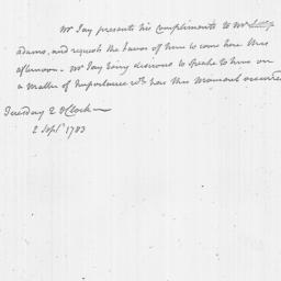 Document, 1783 September 02
