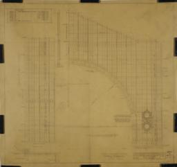 Temple Emanu-el, N.Y.C.: detail drawing of sanctuary in elevation