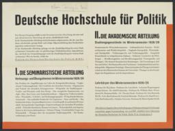 Poster for Chaire Carnegie program in Berlin