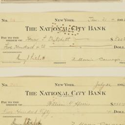 Mounted checks issued by th...