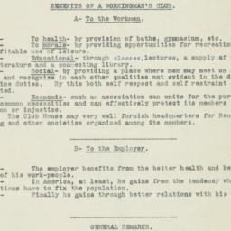 Benefits of Workingman's Club