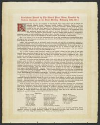 Resolution from the first meeting of the Church Peace Union