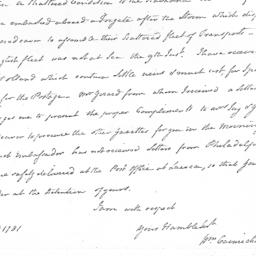 Document, 1781 January 26
