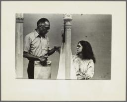 Ulysses Kay with Harpist