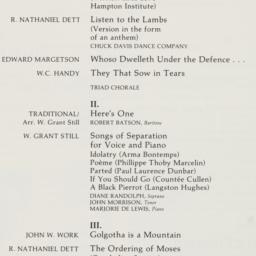 Alice Tully Hall Concert Bi...