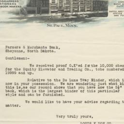 Louis F. Dow Company Letter...