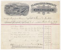 Alabastine Company. Bill - Recto