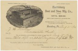 Harrisburg Boot and Shoe Mfg. Col., Limited. Bill - Recto