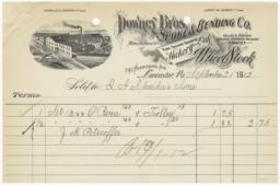 Downey Bros. Spoke & Bending Co.. Bill - Recto