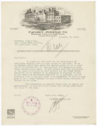 Caughey-Jossman Co.. Letter - Recto
