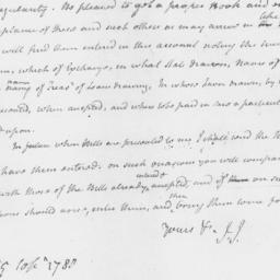 Document, 1780 September 29