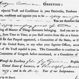 Document, 1779 April 06