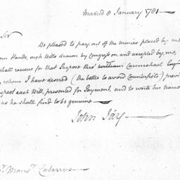 Document, 1781 January 8