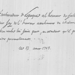 Document, 1783 August 17