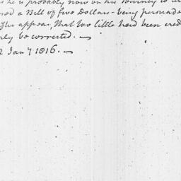 Document, 1816 January 22